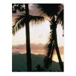 Puesta del sol de Fiji Postales