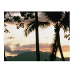 Puesta del sol de Fiji Tarjetas Postales