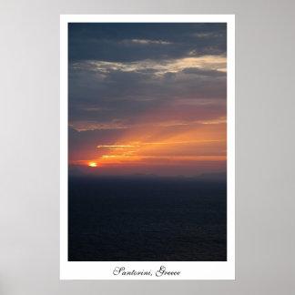 Puesta del sol de Fira Impresiones