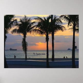 Puesta del sol de Fort Lauderdale Impresiones