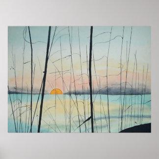 Puesta del sol de Fort Walton Beach Impresiones