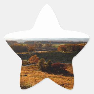 Puesta del sol de Gettsburg Pegatina En Forma De Estrella