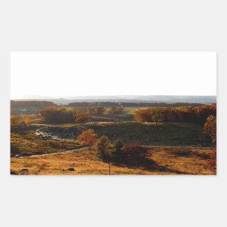 Puesta del sol de Gettsburg Pegatina Rectangular