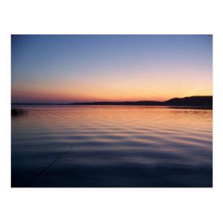 Puesta del sol de Gogebic del lago (14) Tarjetas Postales