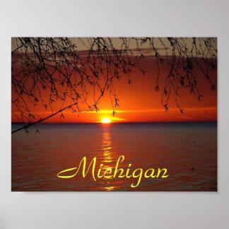 Puesta del sol de Great Lakes de Bobby Mikul Impresiones