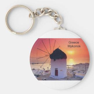 Puesta del sol de Grecia Mykonos (St.K) Llavero