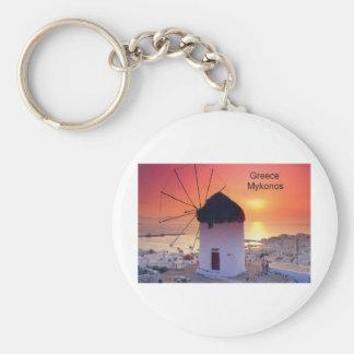 Puesta del sol de Grecia Mykonos (St.K) Llavero Personalizado