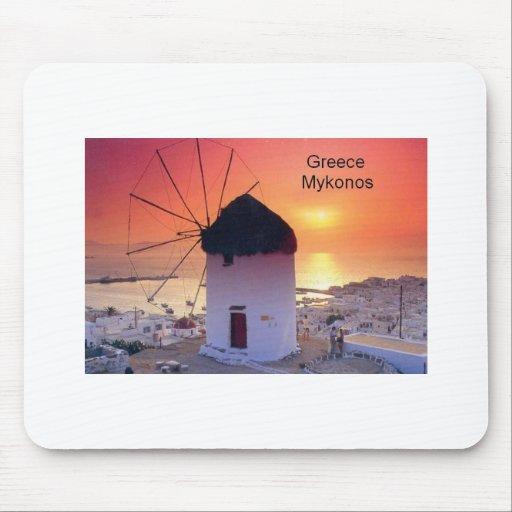 Puesta del sol de Grecia Mykonos (St.K) Alfombrilla De Ratón