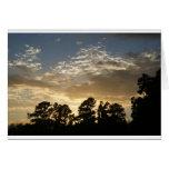 Puesta del sol de Greenville Tarjetón