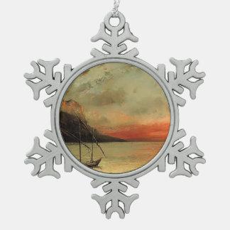 Puesta del sol de Gustavo Courbet- sobre el lago L Adornos