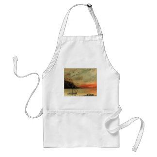 Puesta del sol de Gustavo Courbet- sobre el lago L Delantales