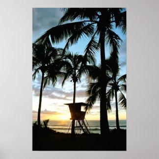 Puesta del sol de Haleiwa Posters
