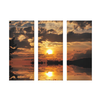 Puesta del sol de Haliburton sobre una impresión Impresiones En Lienzo Estiradas