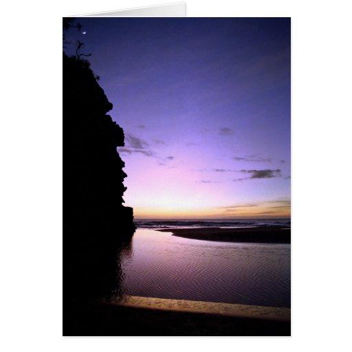 Puesta del sol de Hanakapiai Tarjeta De Felicitación