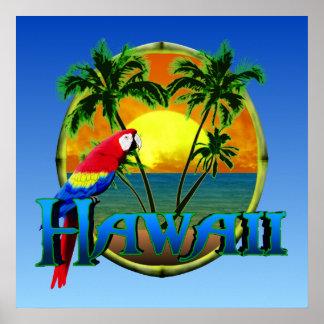 Puesta del sol de Hawaii Impresiones