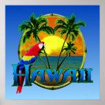 Puesta del sol de Hawaii Póster