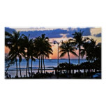 Puesta del sol de Hawaii Posters