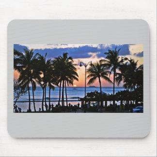 Puesta del sol de Hawaii Tapete De Ratones
