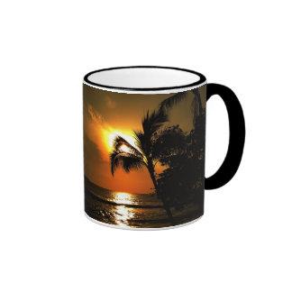 Puesta del sol de Hawaii Tazas De Café