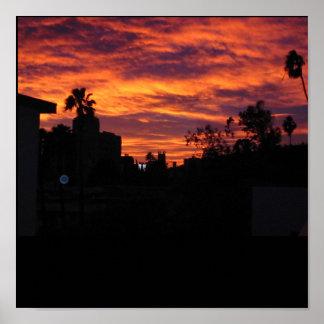 Puesta del sol de Hollywood Impresiones