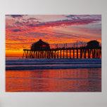 """Puesta del sol de Huntington Beach 1/7/14    16"""" x Impresiones"""