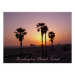 Puesta del sol de Huntington Beach Posters