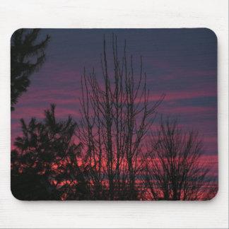 Puesta del sol de Illinois Tapete De Raton