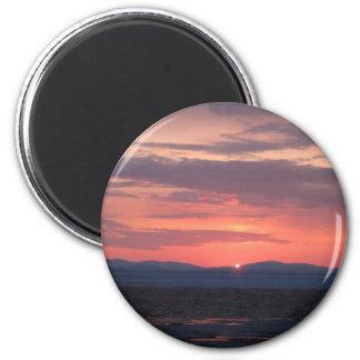 Puesta del sol de IMG_1034 Alaska Iman De Frigorífico
