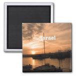 Puesta del sol de Israel Imán De Nevera