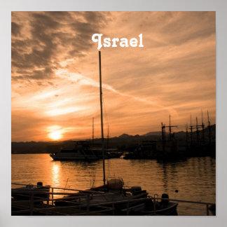 Puesta del sol de Israel Póster