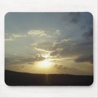 Puesta del sol de Israel Tapete De Ratones