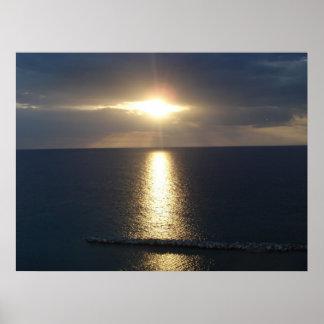 Puesta del sol de Jamacian Impresiones