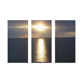 Puesta del sol de Jamacian Lienzo Envuelto Para Galerías