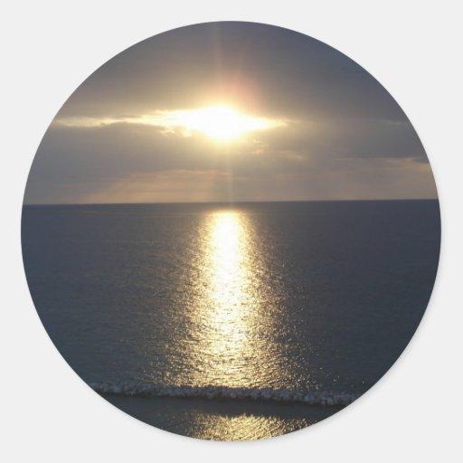 Puesta del sol de Jamaica Pegatinas