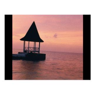 Puesta del sol de Jamaica Postal