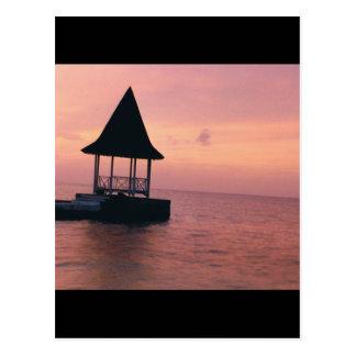 Puesta del sol de Jamaica Tarjeta Postal