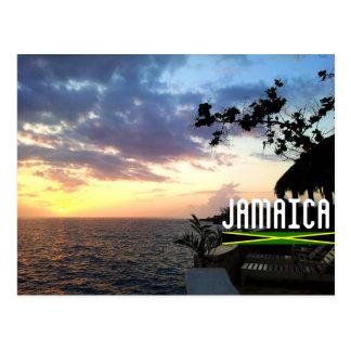 Puesta del sol de Jamaica Tarjetas Postales