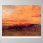 Puesta del sol de José Mallord Turner Poster
