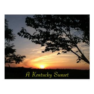 puesta del sol de Kentucky Tarjeta Postal