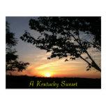 puesta del sol de Kentucky Tarjetas Postales