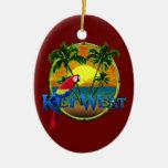 Puesta del sol de Key West Adorno De Navidad