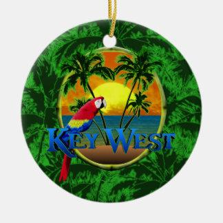 Puesta del sol de Key West Adorno Navideño Redondo De Cerámica