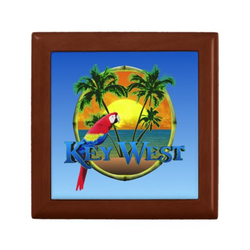 Puesta del sol de Key West Cajas De Joyas