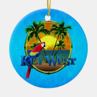 Puesta del sol de Key West Ornamentos De Reyes Magos