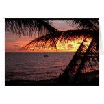 Puesta del sol de Key West (espacio en blanco) Tarjetón