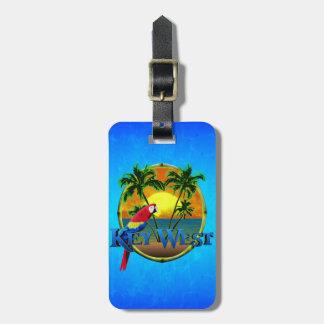 Puesta del sol de Key West Etiquetas De Maletas