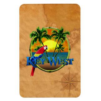 Puesta del sol de Key West Imán Foto Rectangular