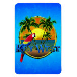 Puesta del sol de Key West Imán De Vinilo