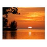 Puesta del sol de Key West la Florida Postales