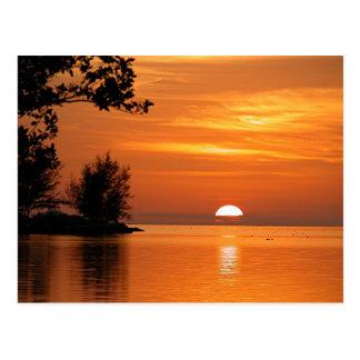 Puesta del sol de Key West la Florida Postal